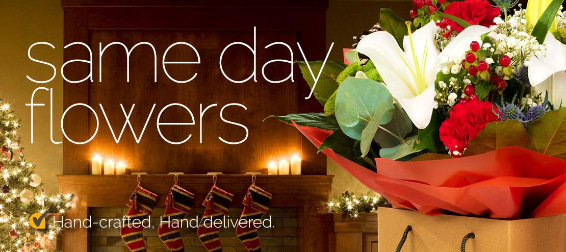 same day christmas flowers
