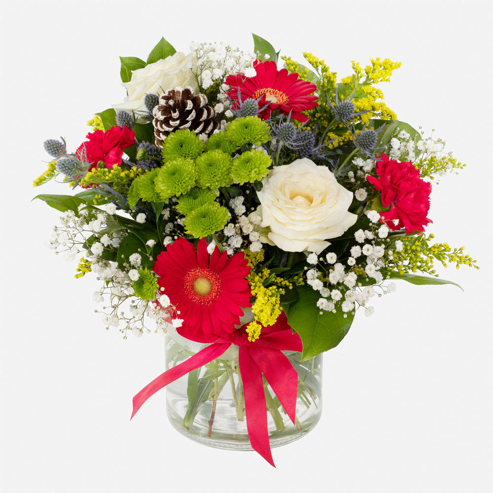Order Magical Christmas Wishes Vase Of Flowers